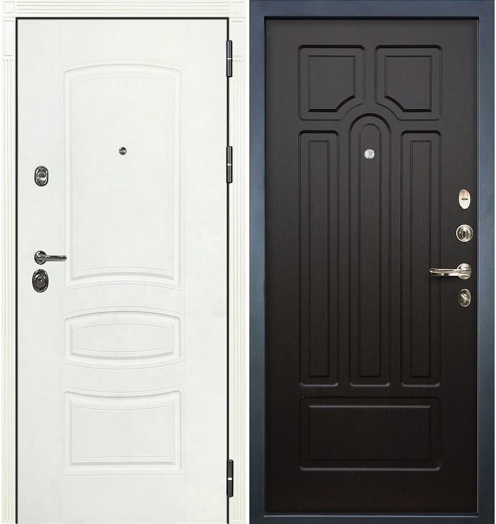 Входная дверь Сенатор 3К Белая шагрень / Венге (панель №32)
