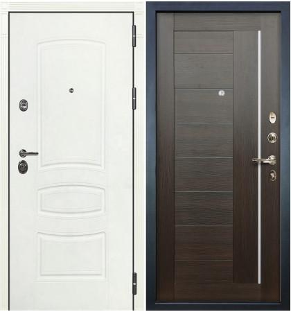 Входная дверь Сенатор 3К Белая шагрень / Верджиния Венге (панель №39)