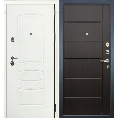 Входная дверь Лекс Сенатор 3К Белая шагрень / Венге (панель №41)
