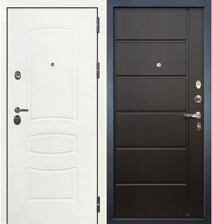 Входная дверь Сенатор 3К Белая шагрень / Венге (панель №41)