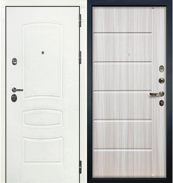 Входная дверь Сенатор 3К Белая шагрень / Сандал белый (панель №42)