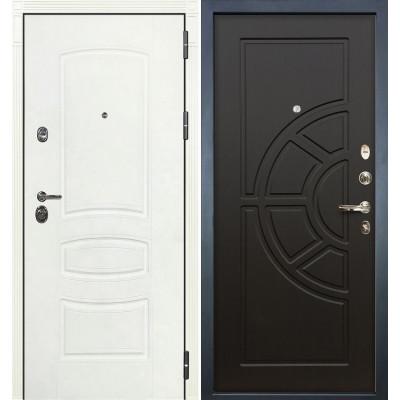 Входная дверь Лекс Сенатор 3К Белая шагрень / Венге (панель №43)