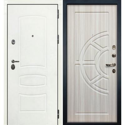 Входная дверь Лекс Сенатор 3К Белая шагрень / Сандал белый (панель №44)