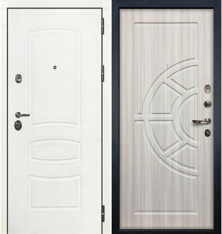 Входная дверь Сенатор 3К Белая шагрень / Сандал белый (панель №44)