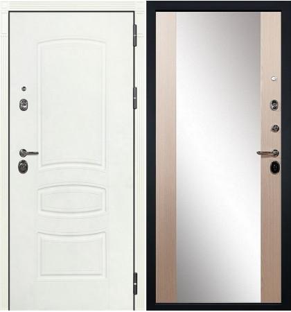 Входная дверь Сенатор 3К Белая шагрень / Стиль Беленый дуб (панель №45)