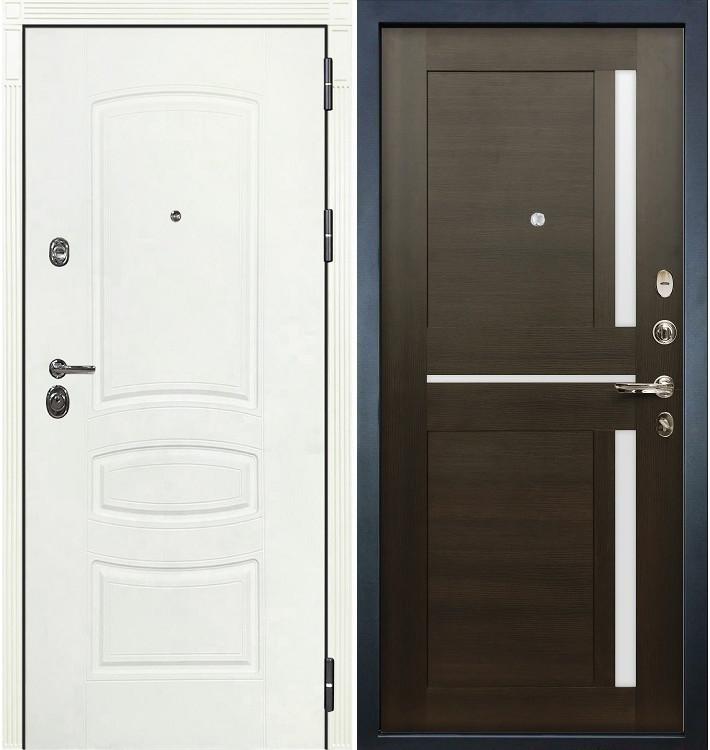 Входная дверь Сенатор 3К Белая шагрень / Баджио Венге (панель №50)
