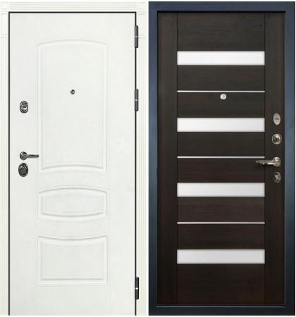 Входная дверь Сенатор 3К Белая шагрень / Сицилио Венге (панель №51)