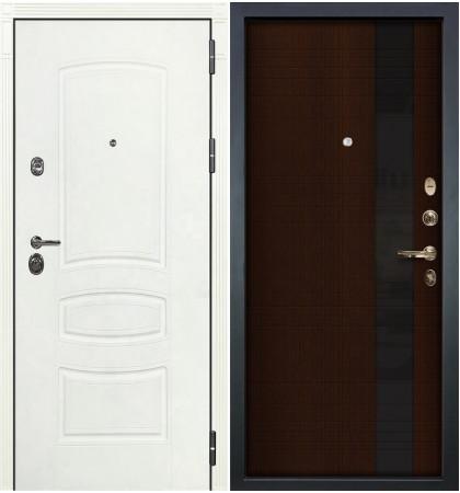 Входная дверь Сенатор 3К Белая шагрень / Новита Венге (панель №53)