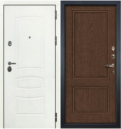 Входная дверь Сенатор 3К Белая шагрень / Энигма Орех (панель №57)