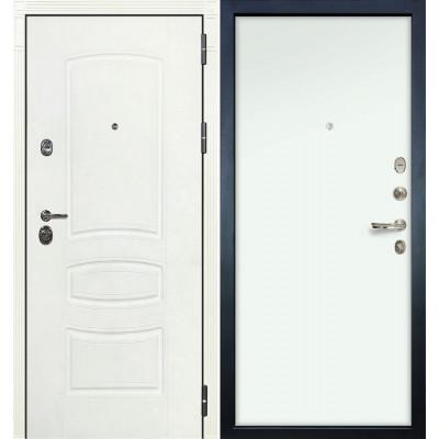 Входная дверь Лекс Сенатор 3К Белая шагрень / Белый винорит (панель №59)