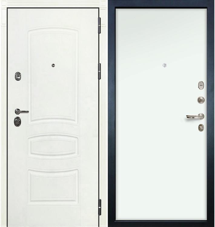 Входная дверь Сенатор 3К Белая шагрень / Белый винорит (панель №59)