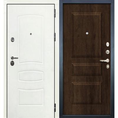 Входная дверь Лекс Сенатор 3К Белая шагрень / Алмон 28 (панель №60)