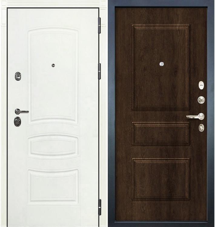 Входная дверь Сенатор 3К Белая шагрень / Алмон 28 (панель №60)
