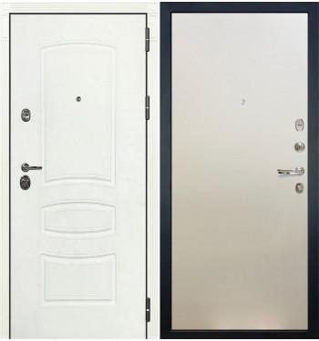 Входная дверь Лекс Сенатор 3К Белая шагрень / Белый ясень (панель №62)