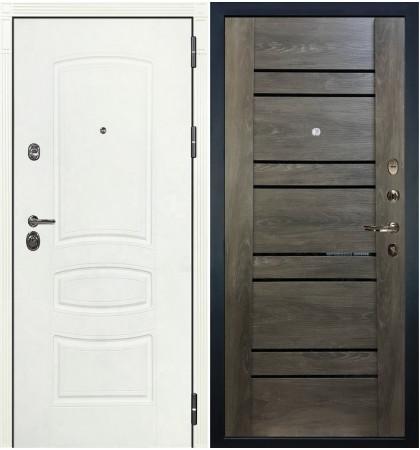 Входная дверь Сенатор 3К Белая шагрень / Терра Графит шале (панель №64)