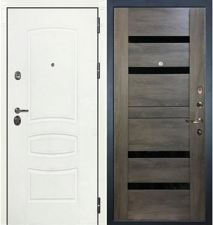 Входная дверь Сенатор 3К Белая шагрень / Неро Графит шале (панель №65)