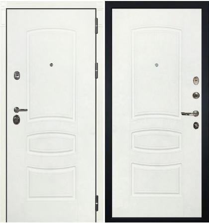 Входная дверь Сенатор 3К Белая шагрень / Белая шагрень (панель №68)