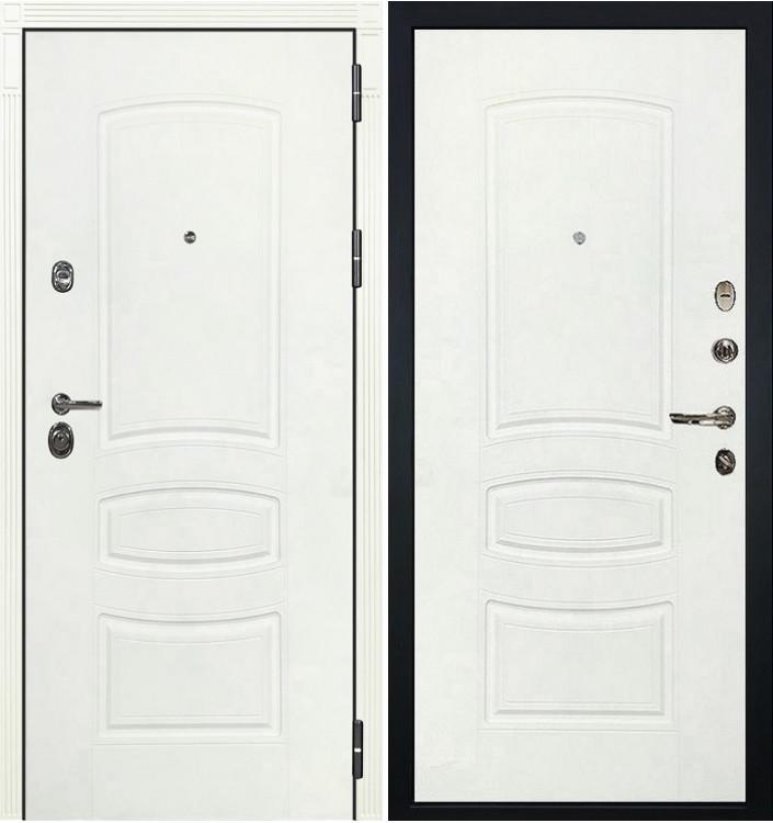 Входная дверь Лекс Сенатор 3К Белая шагрень / Белая шагрень (панель №68)