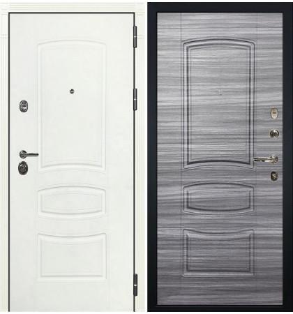 Входная дверь Сенатор 3К Белая шагрень / Сандал серый (панель №69)