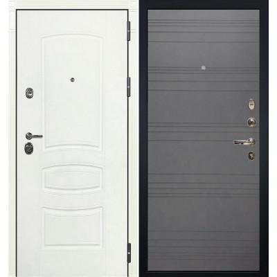 Входная дверь Лекс Сенатор 3К Белая шагрень / Графит софт (панель №70)