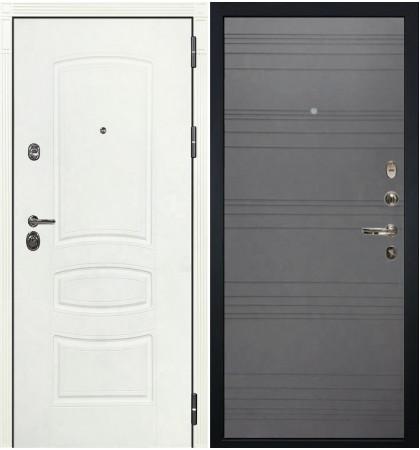 Входная дверь Сенатор 3К Белая шагрень / Графит софт (панель №70)
