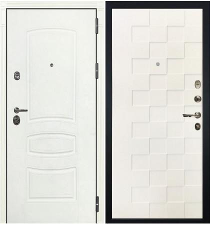 Входная дверь Сенатор 3К Белая шагрень / Квадро Белая шагрень (панель №71)
