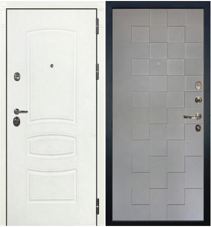 Входная дверь Сенатор 3К Белая шагрень / Квадро Графит софт (панель №72)