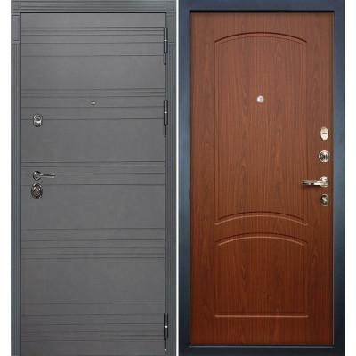 Входная дверь Лекс Сенатор 3К Графит софт / Береза мореная (панель №11)