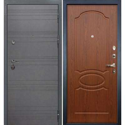Входная дверь Лекс Сенатор 3К Графит софт / Береза мореная (панель №12)