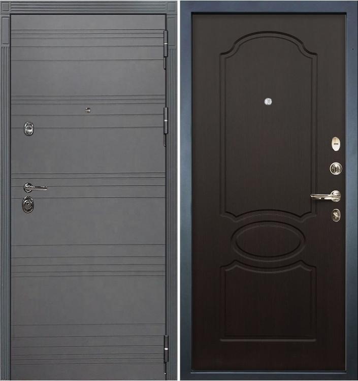 Входная дверь Лекс Сенатор 3К Графит софт / Венге (панель №13)