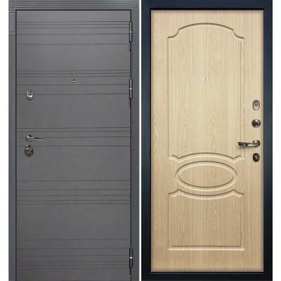 Входная дверь Лекс Сенатор 3К Графит софт / Беленый дуб (панель №14)