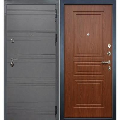 Входная дверь Лекс Сенатор 3К Графит софт / Береза мореная (панель №19)