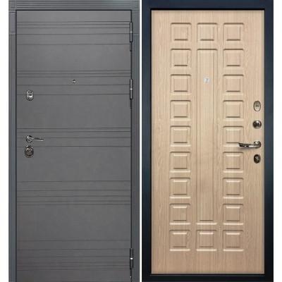 Входная дверь Лекс Сенатор 3К Графит софт / Беленый дуб (панель №20)