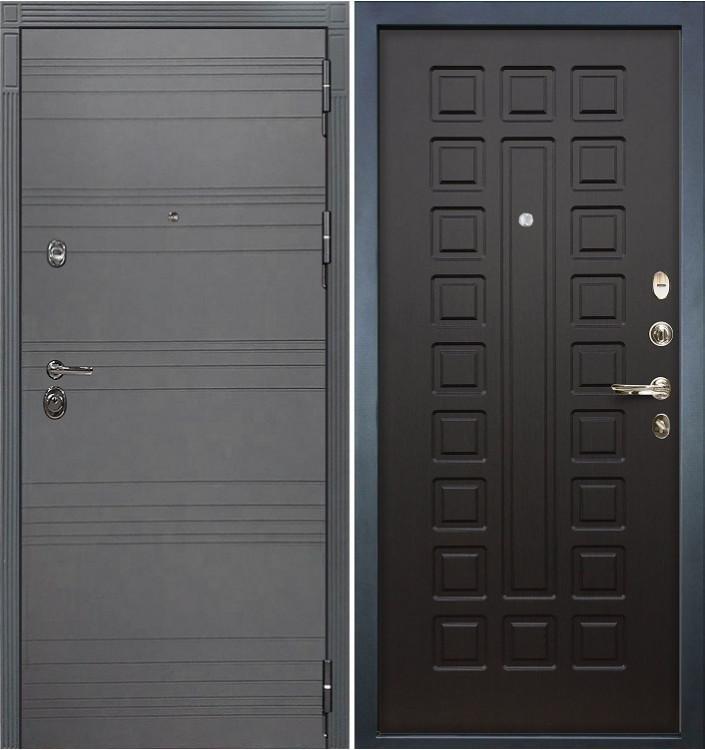 Входная дверь Лекс Сенатор 3К Графит софт / Венге (панель №21)