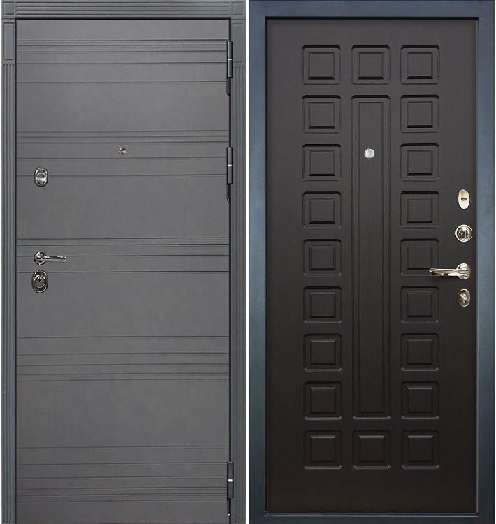 Входная дверь Сенатор 3К Графит софт / Венге (панель №21)