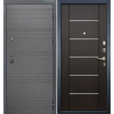 Входная дверь Лекс Сенатор 3К Графит софт / Венге (панель №24)