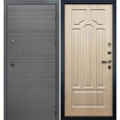 Входная дверь Лекс Сенатор 3К Графит софт / Беленый дуб (панель №25)