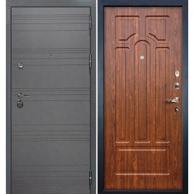 Входная дверь Лекс Сенатор 3К Графит софт / Береза мореная (панель №26)