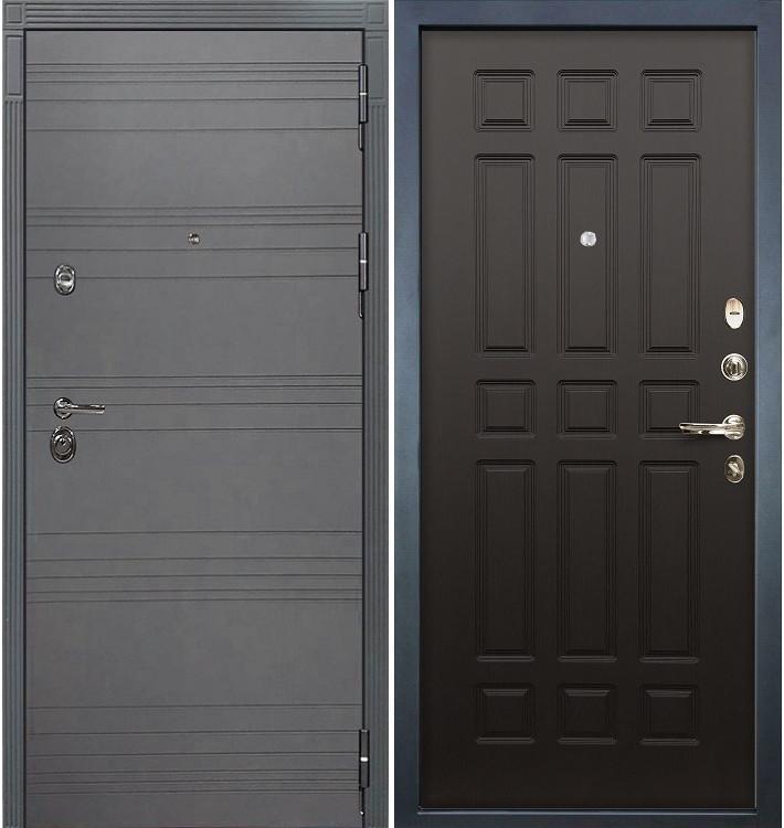 Входная дверь Сенатор 3К Графит софт / Венге (панель №29)