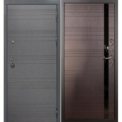 Входная дверь Лекс Сенатор 3К Графит софт / Ясень шоколад (панель №31)