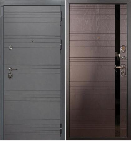 Входная дверь Сенатор 3К Графит софт / Ясень шоколад (панель №31)