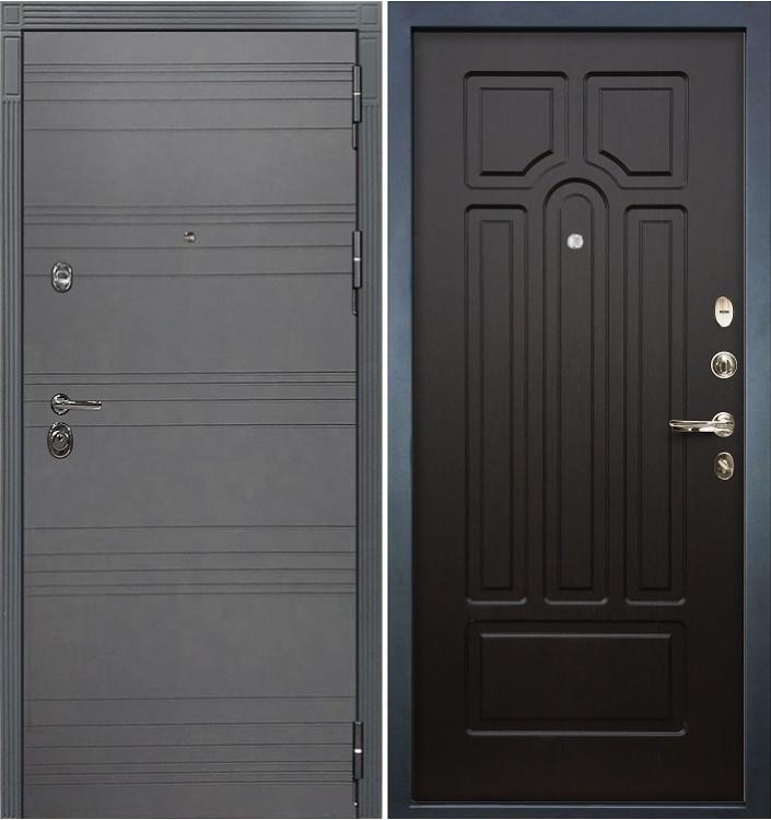 Входная дверь Лекс Сенатор 3К Графит софт / Венге (панель №32)