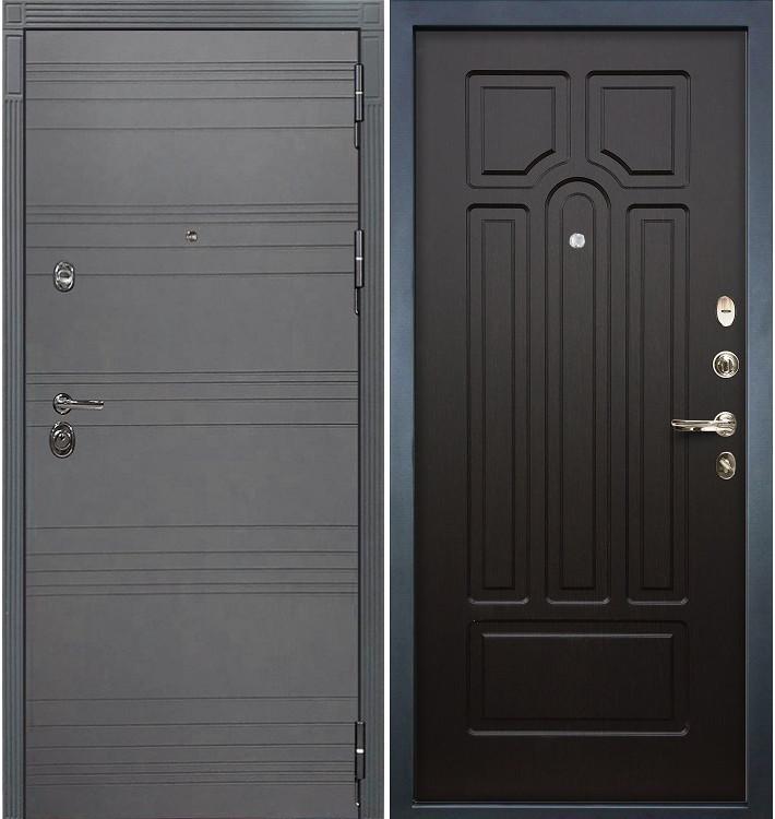Входная дверь Сенатор 3К Графит софт / Венге (панель №32)