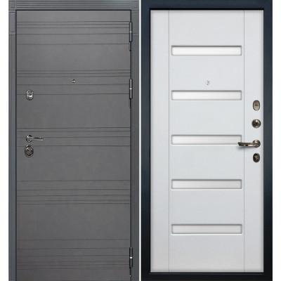 Входная дверь Лекс Сенатор 3К Графит софт / Белый ясень (панель №34)