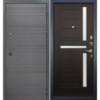 Входная дверь Лекс Сенатор 3К Графит софт / Венге (панель №35)