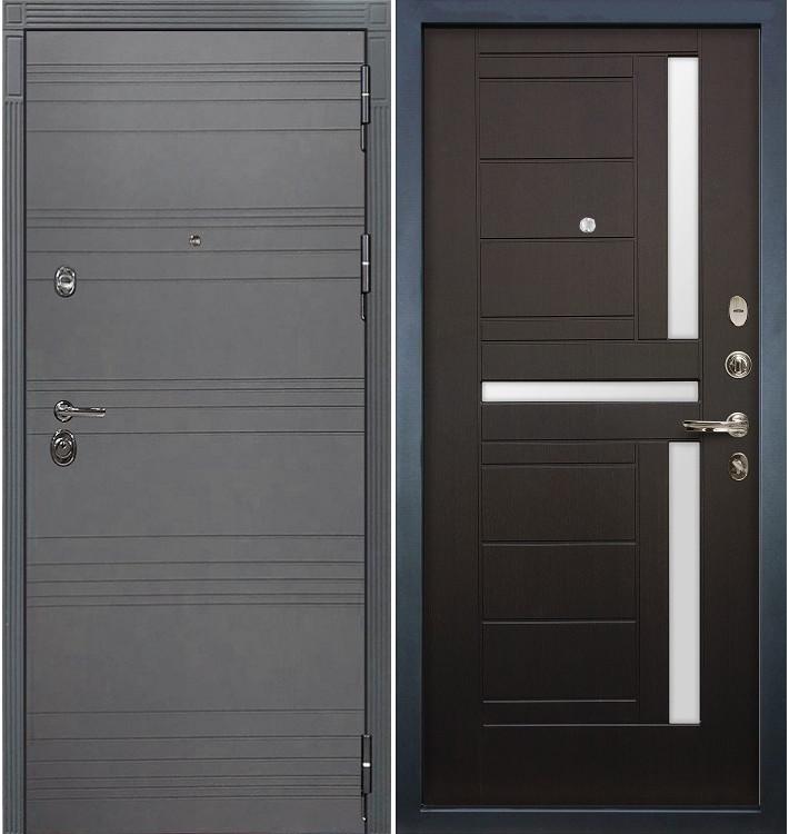 Входная дверь Сенатор 3К Графит софт / Венге (панель №35)