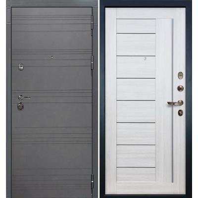 Входная дверь Лекс Сенатор 3К Графит софт / Верджиния Беленый дуб (панель №38)