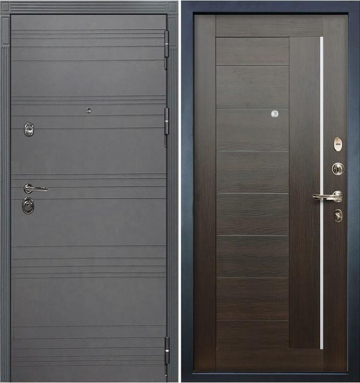 Входная дверь Лекс Сенатор 3К Графит софт / Верджиния Венге (панель №39)