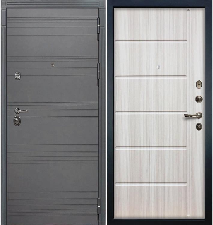 Входная дверь Сенатор 3К Графит софт / Сандал белый (панель №42)
