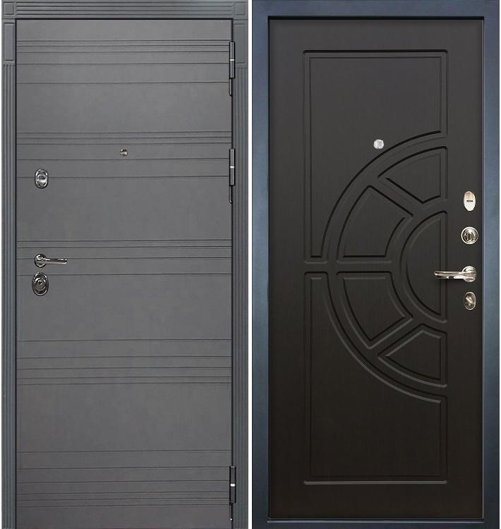 Входная дверь Сенатор 3К Графит софт / Венге (панель №43)